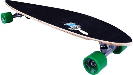 """Schreuder Sports Nijdam Longboard 39"""" Pintail - Green Vortex - Blank/Groen"""