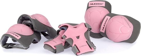 Schreuder Sports Nijdam N-Protect - Junior Beschermset – Roze/Grijs – Maat L