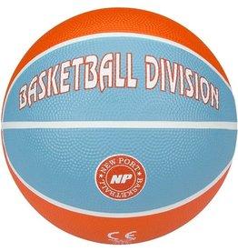Schreuder Sports New Port Mini Basketbal Print - Oranje/Aqua/Wit - 3
