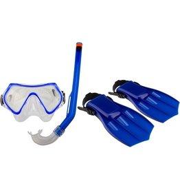 Schreuder Sports Waimea - Snorkelset - Kinderen - Blauw