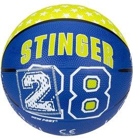 Schreuder Sports New Port Mini Basketbal Print - Kobalt/Fluorgeel/Wit - 3