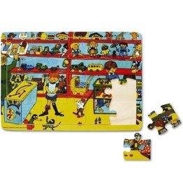 Micki Micki Houten puzzel in frame pippi langkous 20 stukjes