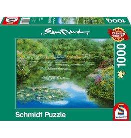 Puzzel 1000 waterlelie vijver