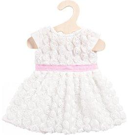 Poppenkleren jurk met roosjes 35-45 cm