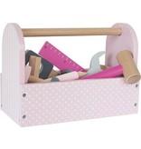 Jabadabado Houten gereedschapskist roze