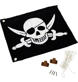 Vlag met hijssyst.piraat  kbt