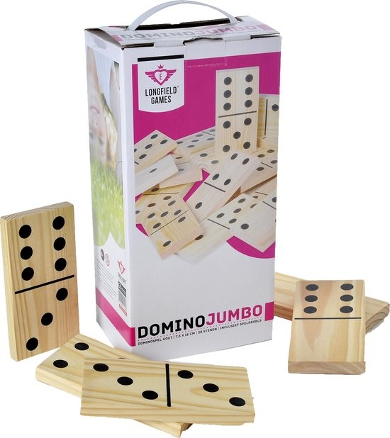 Longfield Domino jumbo hout 15x7,5cm