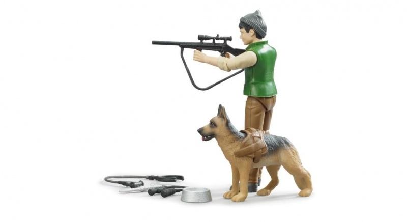Bruder boswachter met hond