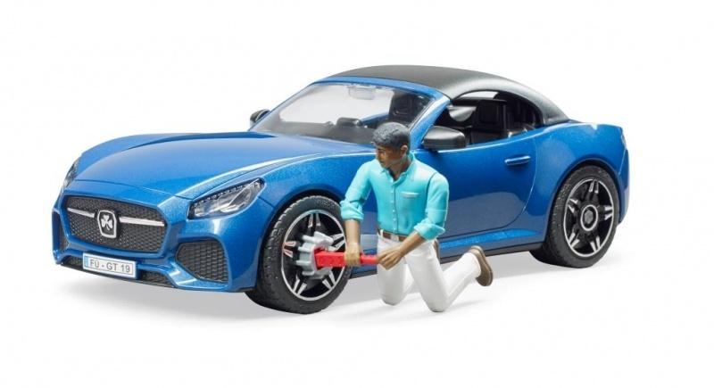 Bruder roadster met speelfigur