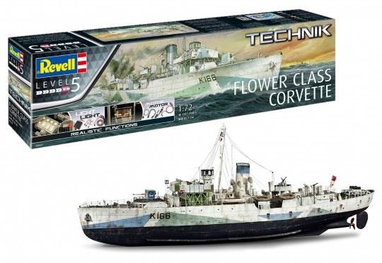 Revell Revell Flower class corvette technik