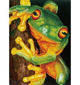 Diamond dotz Daimond dotz frog green tree