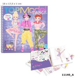 Top Model Dress me up dance stickerboek