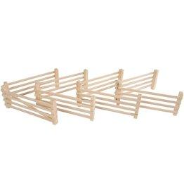 Kids globe houten hekken 8st