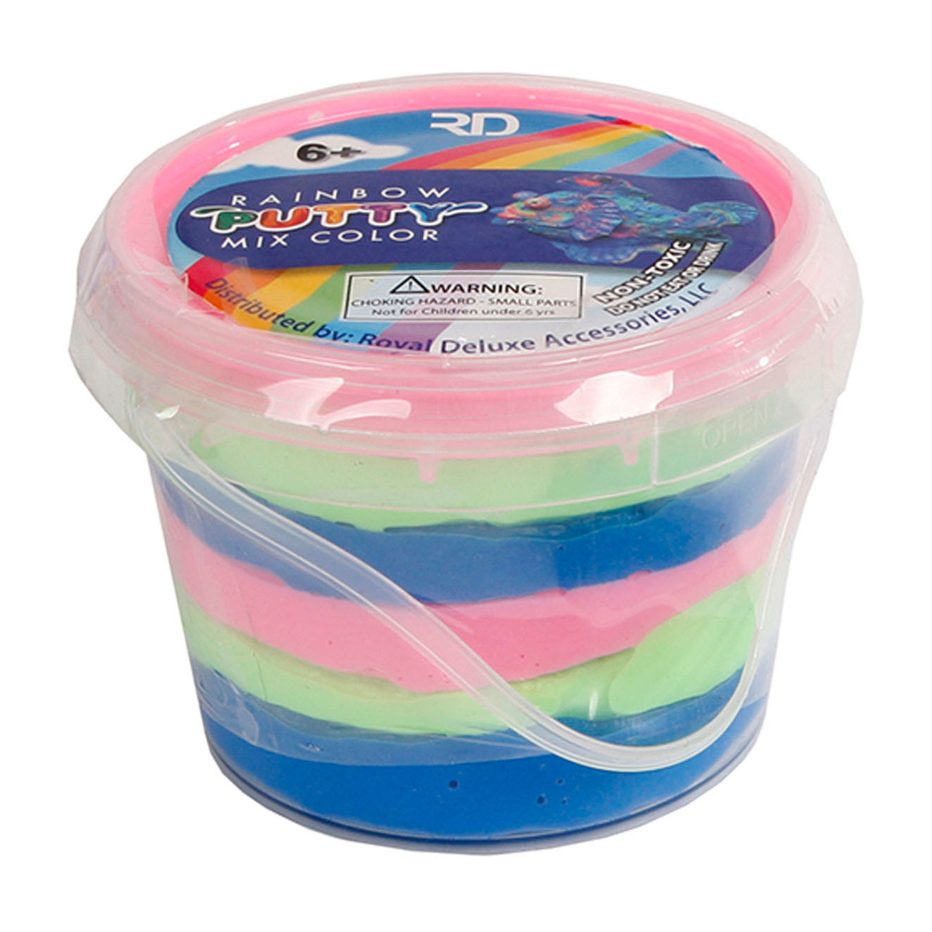 Bouncing putty rainbow 110gram