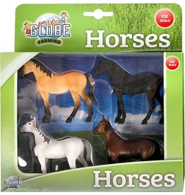 Kids Globe Kids globe farming paarden p/4