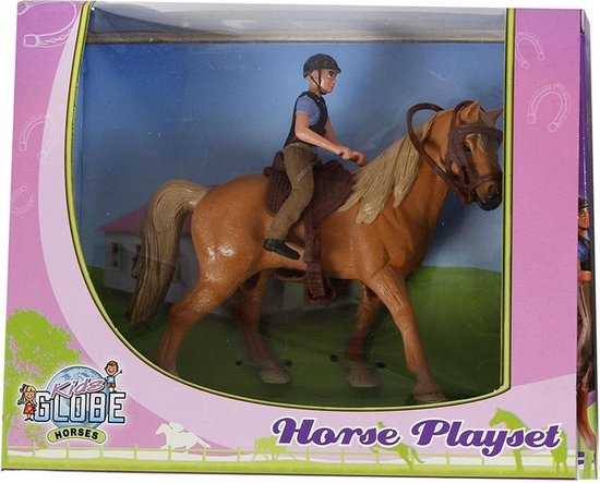 Kids globe paard+ruiter