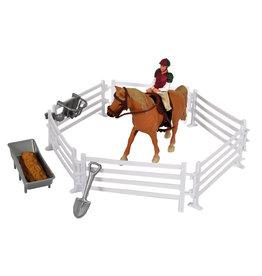 Kids Globe Kids Globe Speelset paard met ruiter en accessoires