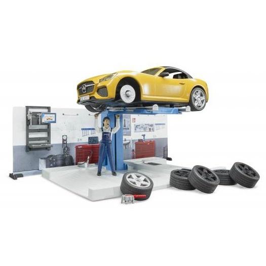 Bruder garageset met sportwagen