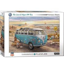 Eurograpics Puzzel 1000 vw bus love&hope
