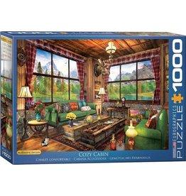 Eurograpics Puzzel 1000 cozy cabin dom.dav