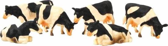 Kids Globe Koeien 6st. zwartbont 1:32  kg