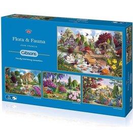 Gibsons Puzzel 4x500 flora en fauna