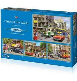 Gibsons Puzzel 4x500 cities of the wor