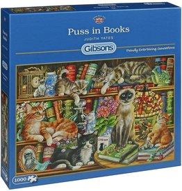 Gibsons Puzzel 1000 Stukjes - Puss in books