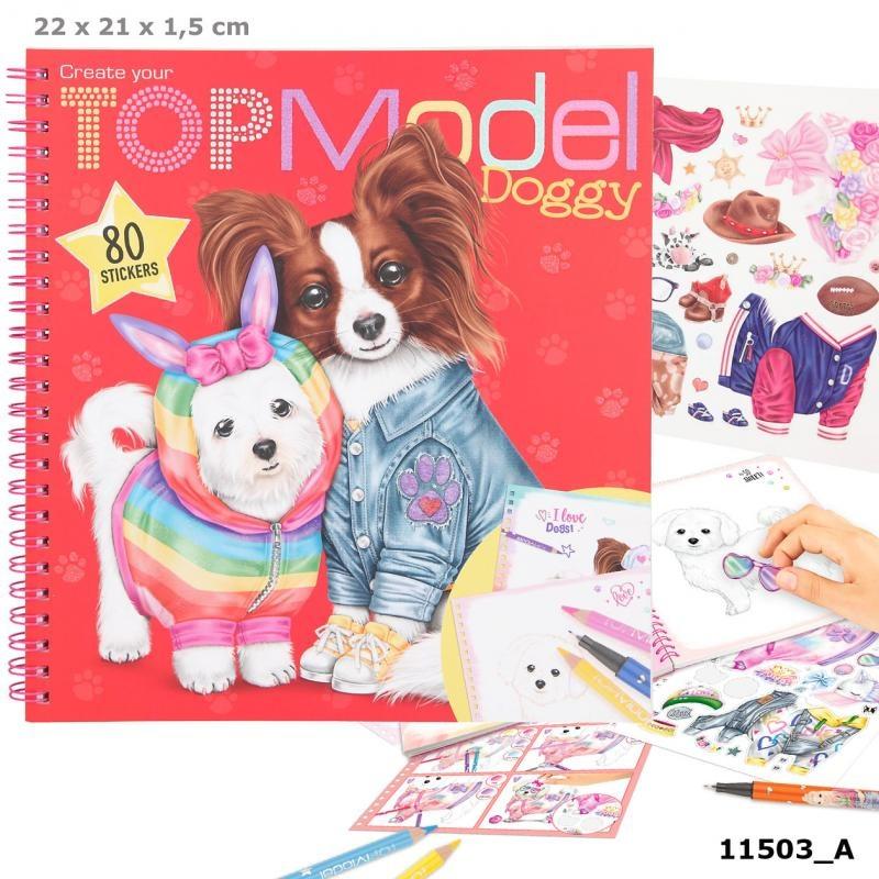 Kleurboek doggy   topmodel
