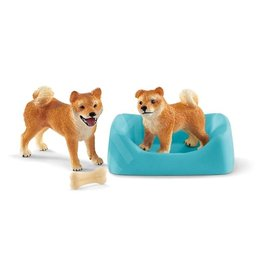 Sleich 42479 Shiba Inu moeder en puppy