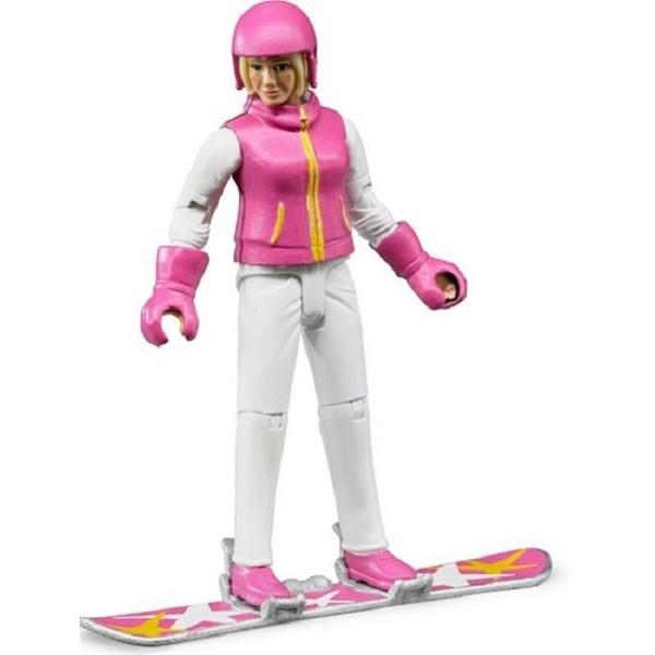 Bruder vrouw snowboarder+acc