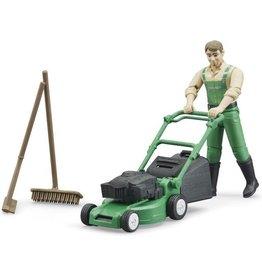 Bruder Bruder tuinier met grasmaaier