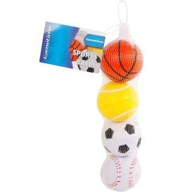 van Manen Sportballen 6cm 4st.in net