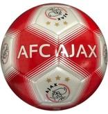 Ajax Bal ajax middel rood/wit stree