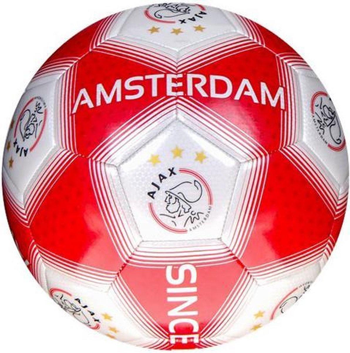 Ajax Bal ajax groot rood/wit vlakk