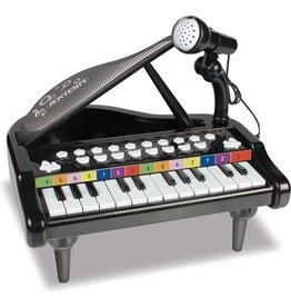 Bontempi Bontempi Elektronische Piano Met Microfoon 30 Cm Zwart