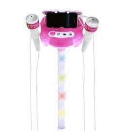 Bontempi Bontempi Podiummicrofoon Met Geluid Wit/roze 89 Cm