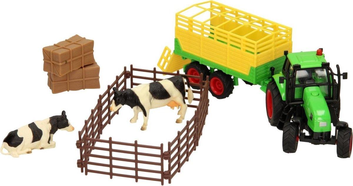 Kids Globe Kids globe tractor+aanhanger