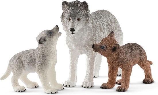 Schleich Dier wolvin met welpen