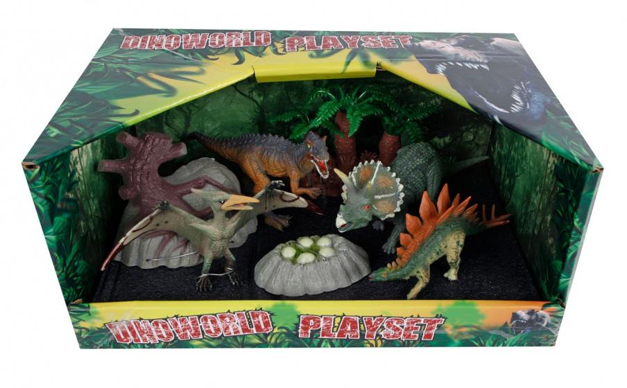 Dino World DinoWorld speelset dinosaurussen junior 13-17 cm 7-delig