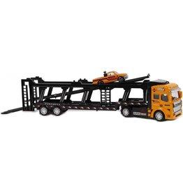 2-Play 2-Play Vrachtwagen pb autotransporter en auto: 32 cm