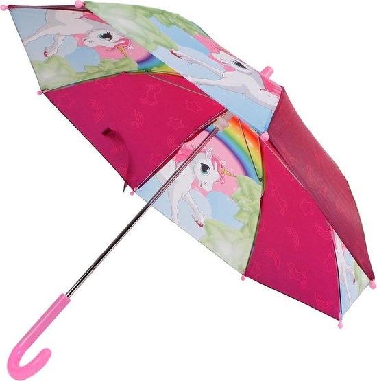 van Manen Paraplu Unicorn Meisjes 70 X 60 Cm Roze