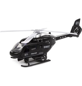 2-Play 2-play Politiehelikopter Usa Pull-back 22 Cm Zwart