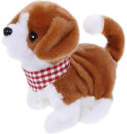 Take me home Take Me Home Loophond Pluche 17 Cm Junior Wit/bruin