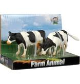 Kids Globe Kids Globe Farming Koeien Zwart/Wit 2 Stuks 1:32