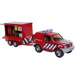 Kids Globe 2-play brandweer met aanhangwg
