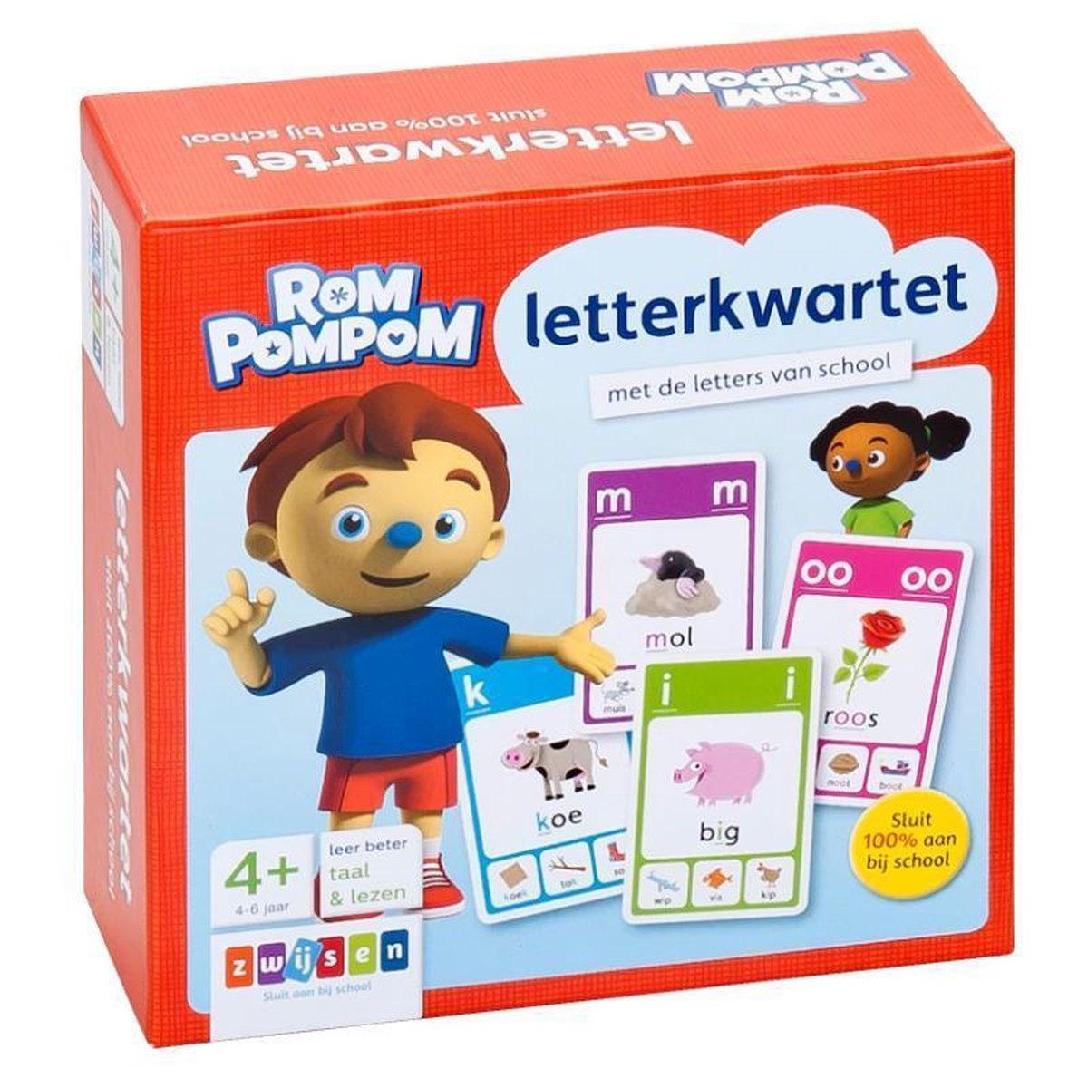 Kwartet letters rompompom