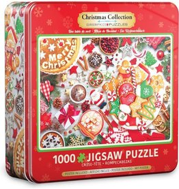 Eurograpics Puzzel 1000 christmas table tn
