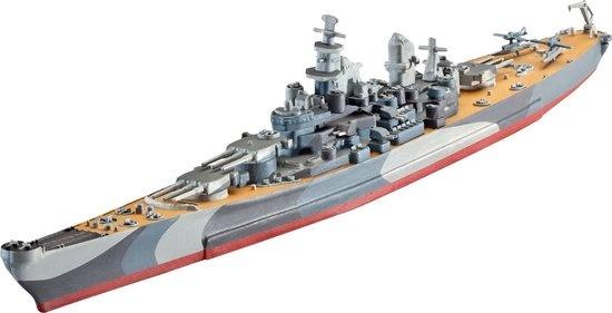 Revell Revell Battleship U.S.S. Missouri(WWII) 1:1200 Marineschip Montagekit