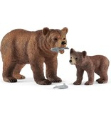 Schleich Dier grizzly beer + jong